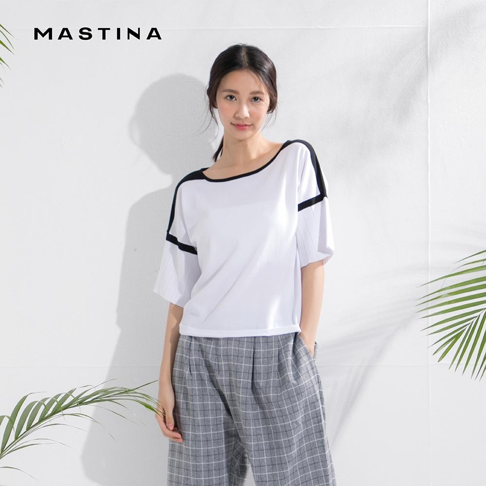 【MASTINA】設計拼接款-針織衫(三色/魅力價格)
