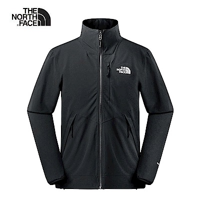 The North Face北面男款黑色防風防潑水衝鋒衣 3VQKJK3