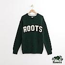 Roots 男裝-前胸字標毛衣-綠色