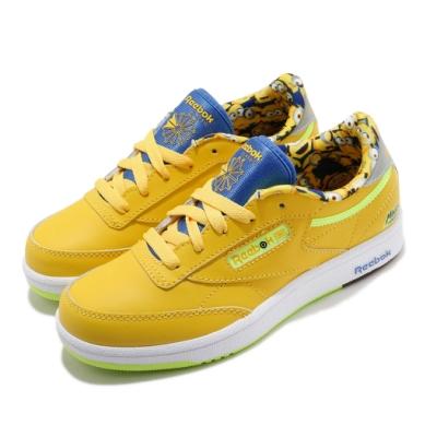 Reebok 休閒鞋 Club C 85 MU 運動 童鞋 基本款 小小兵 皮革 穿搭 中童 黃 藍 FX3353