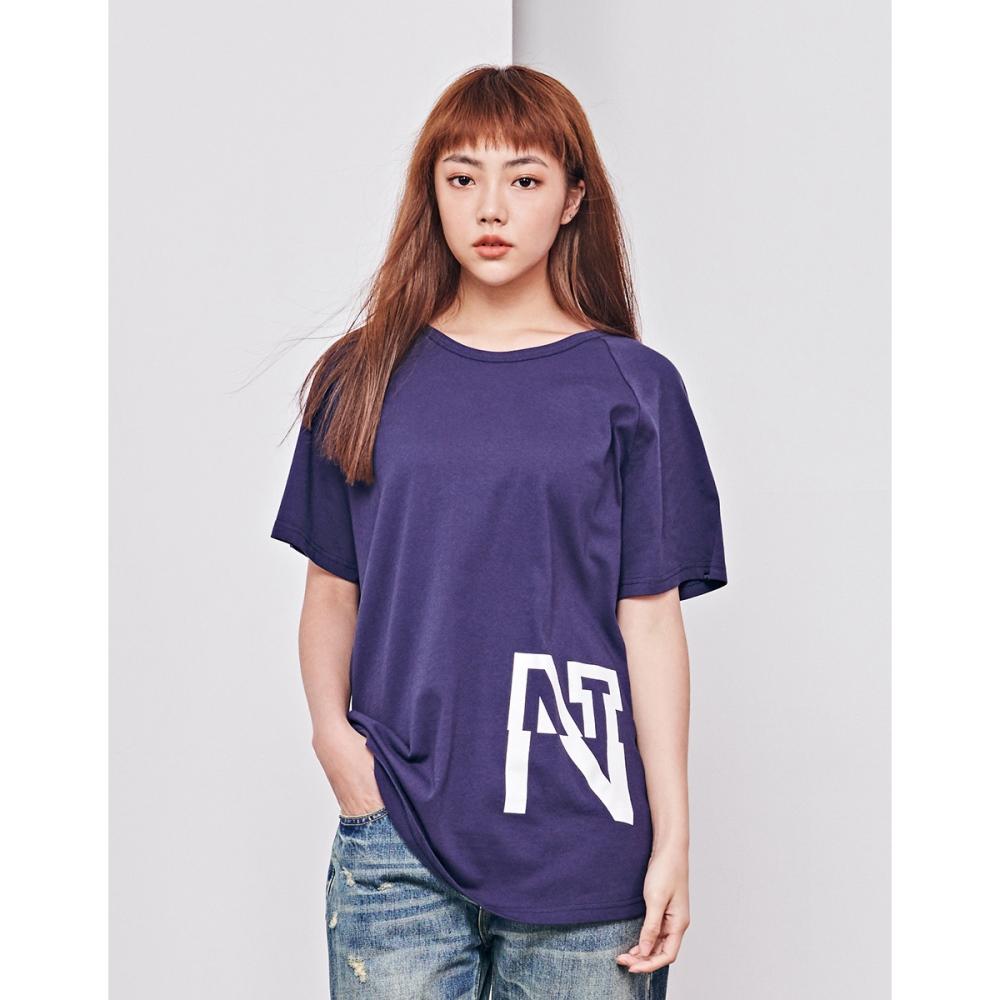 NAVY-MIT連袖印花長版上衣(兩色)-女【TNA059】