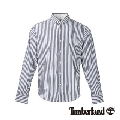 Timberland 男款海洋藍條紋襯衫 A1WPG