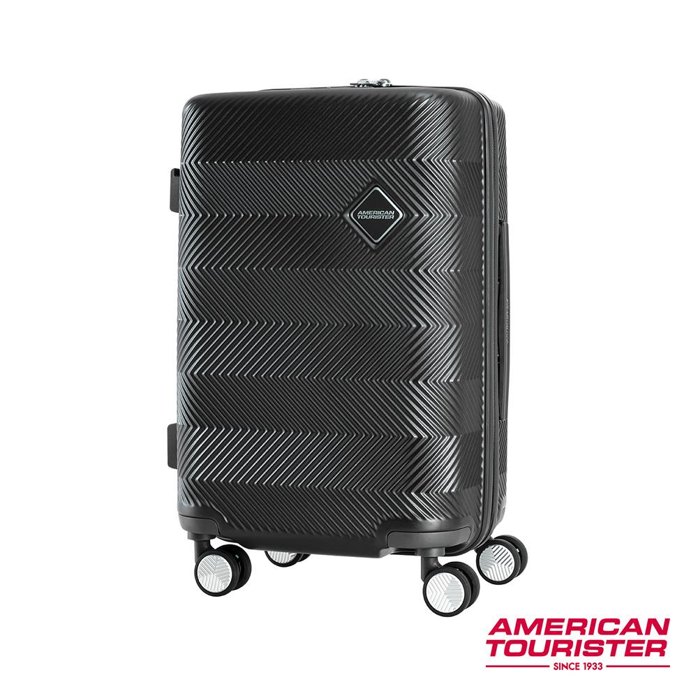 AT美國旅行者 20吋Groovista 霧面耐磨吸震PC硬殼登機箱(黑)