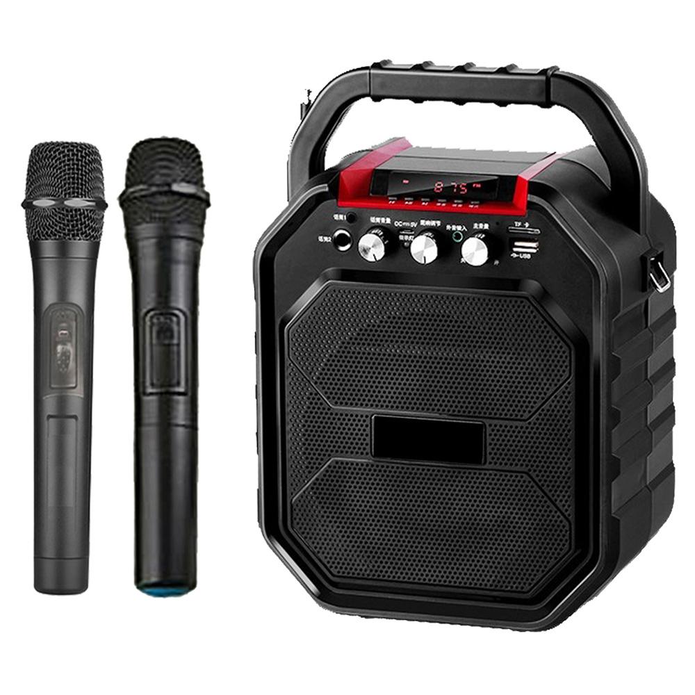 大聲公樂樂型無線式多功能行動音箱/喇叭 (雙手持麥克風組)