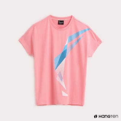 Hang Ten-ThermoContro-女裝幾何機能T恤-蕭青陽設計款-粉