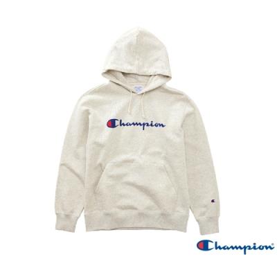 Champion Basic Logo 經典款連帽Tee 米白
