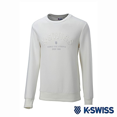 K-Swiss Round Sweat Shirts圓領長袖上衣-男-白