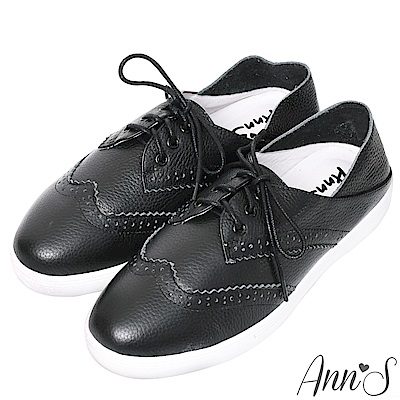 Ann'S第二代兩穿可腳踩牛津小白鞋-黑