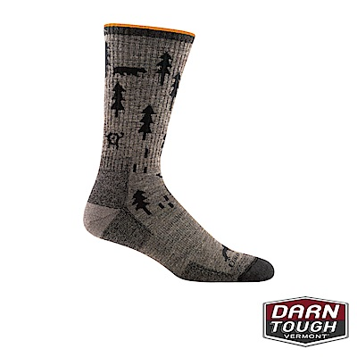【美國DARN TOUGH】男羊毛襪ABC Boot Sock健行襪(隨機)