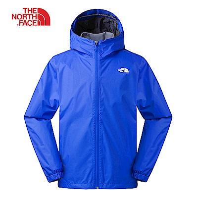 The North Face北面男款寶藍色防水透氣連帽衝鋒衣|3L88BL5
