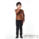 INTIMATUS 真皮 輪胎紋立領皮衣 男童裝 焦糖棕色