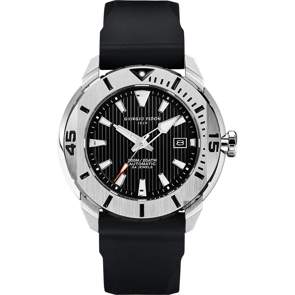 GIORGIO FEDON 1919 海洋系列200米機械錶-黑/47mm