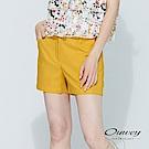 OUWEY歐薇 彈性舒適造型口袋百搭短褲(黃)