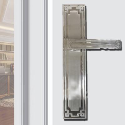 SL-F8848-SR 中式古典 亮面銀 連體鎖 面板鎖 葫蘆鎖心 水平鎖 四支鑰匙