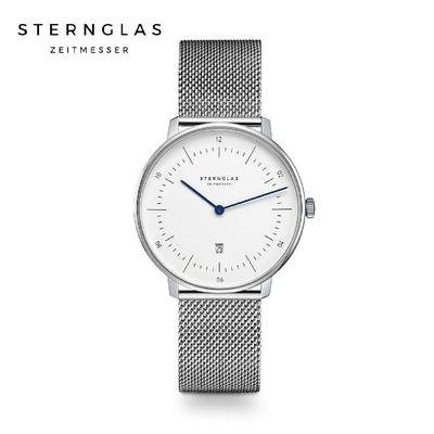 STERNGLAS 德國希丹格斯 S01-ND01-MI01 簡約XS白盤文青石英錶(米蘭鏈帶) 33mm 女錶
