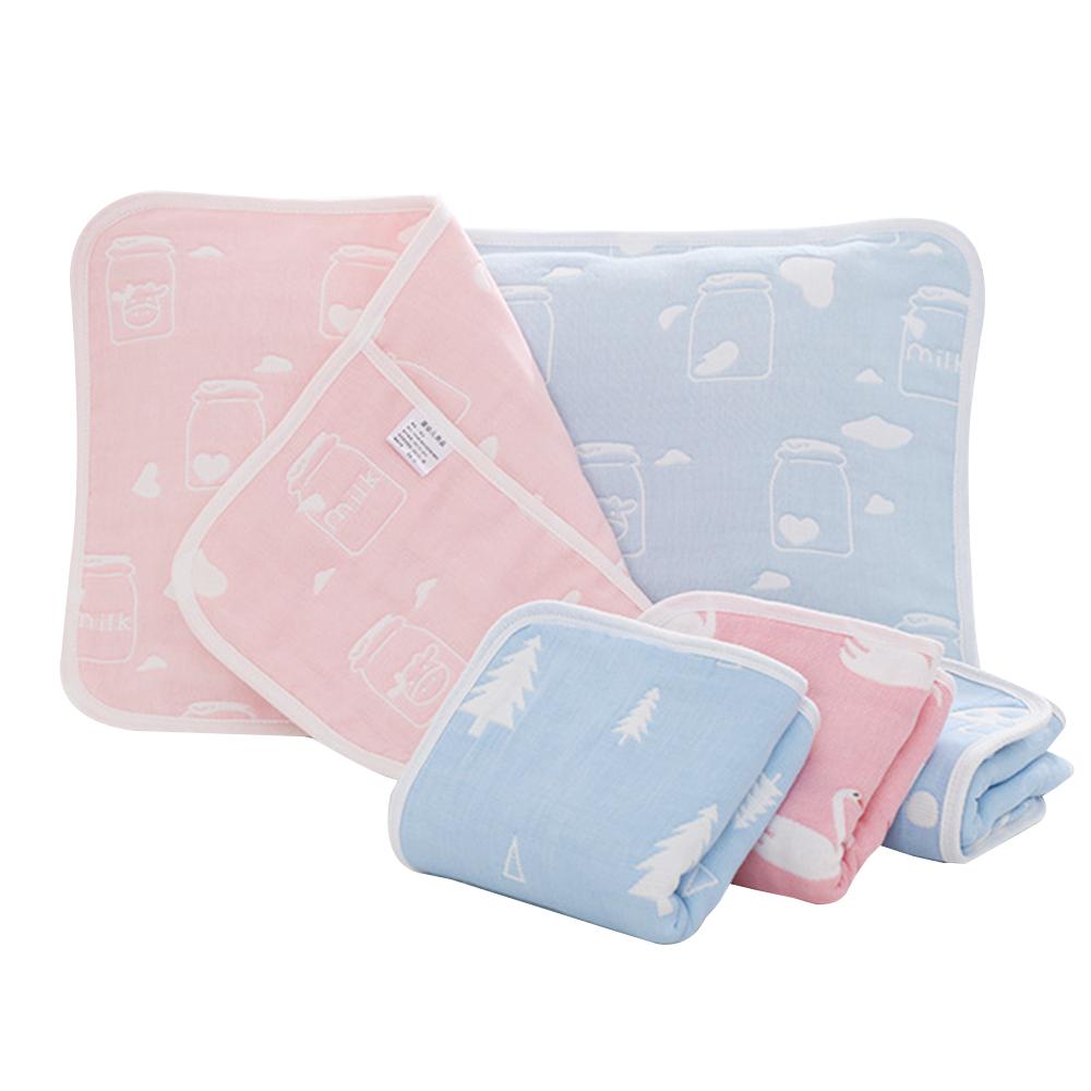 JoyNa 高密度六層純棉提花嬰幼兒枕套-2入