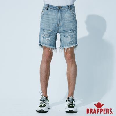 BRAPPERS 男款 HM-中腰系列-全棉五分垮褲-淺藍