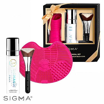 Sigma 3D極大五角形粉底刷+Magic刷具清潔組(季節限定禮盒)