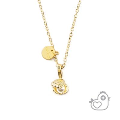 【彩糖鑽工坊】彩糖貝貝  貝殼珍珠項鍊 (親子 閨蜜 彩糖貝貝繽紛寶石系列)