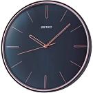 SEIKO 日本精工 時鍾 掛鐘 滑動式秒針 靜音-QXA739L-深藍/28cm