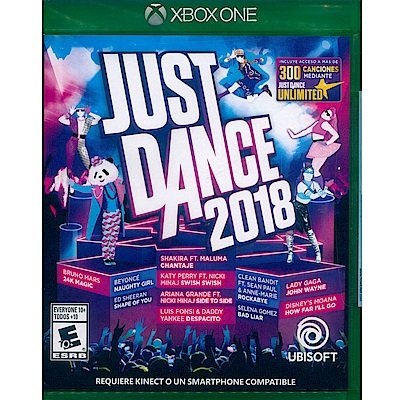 舞力全開 2018 Just Dance 2018 - XBOX ONE 英文美版(拉丁)