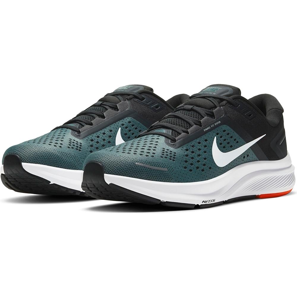 NIKE 慢跑鞋  運動鞋 訓練 健身 綠黑 男鞋 CZ6720300 AIR ZOOM STRUCTURE 23