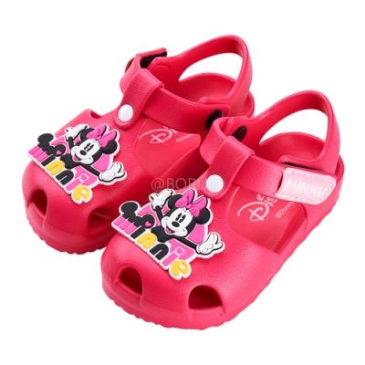 迪士尼童鞋 米妮 立體造型護趾防水涼鞋-桃 (柏睿鞋業)