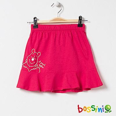 bossini女童-小熊維尼印花針織裙01紅