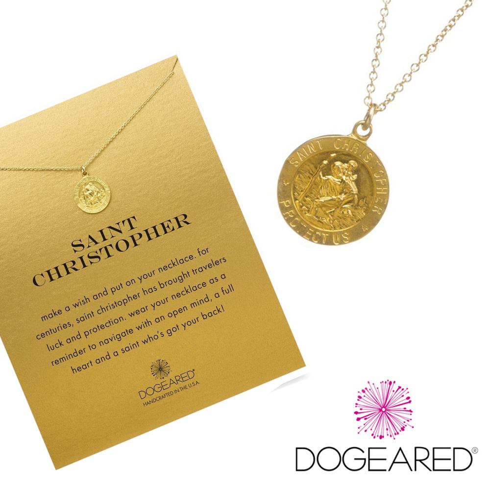 Dogeared 旅行錢幣 金色許願項鍊 帶著好運向前行 附原廠盒