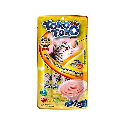 ToroToro寵愛肉泥包 鮪魚+海鮮總匯15g5入-六包組
