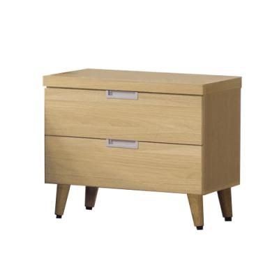 柏蒂家居-德比1.8尺床頭櫃/二抽收納置物櫃-55x41x49cm