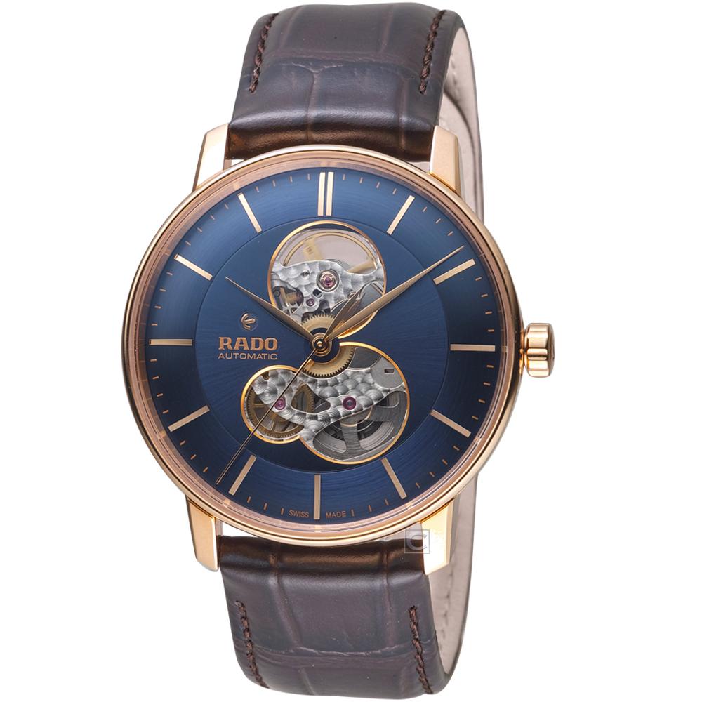 RADO雷達晶璨系列鏤空自動腕錶(R22895215)-藍