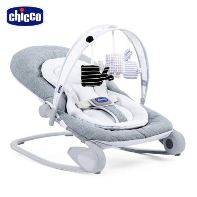 [滿額送腳皮機]chicco-Hoopla可攜式安撫搖椅-金屬鈦灰