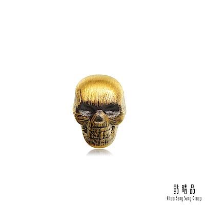 點睛品 Noir系列 骷顱頭 黃金耳環(單只)