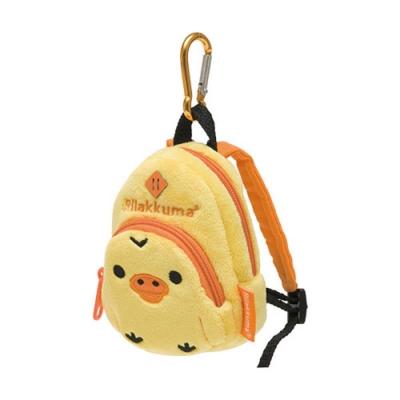 懶熊毛絨後背包造型吊掛收納包(小)。小雞San-X