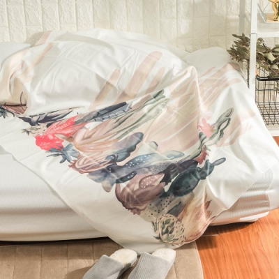 樂嫚妮 北歐裝飾掛毯/掛布/門簾/桌巾-仙人掌 150X130cm