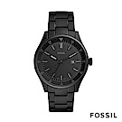 FOSSIL BELMAR 黑色不鏽鋼男錶