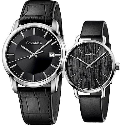 Calvin Klein CK 簡約情侶手錶 對錶(K5S311C1+K7B231C1)