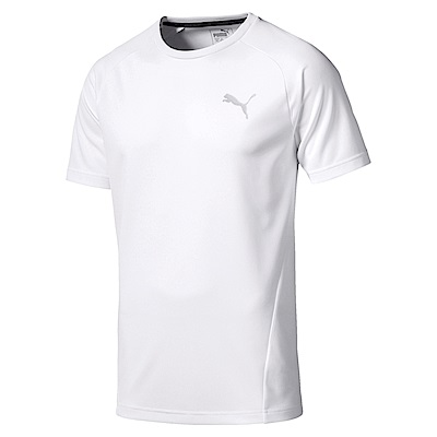 PUMA-男性基本系列Evostripe小跳豹短袖T恤-白色-亞規