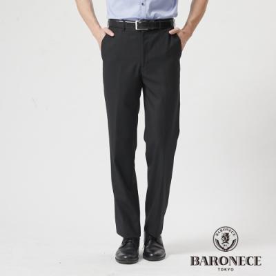 BARONECE 百諾禮士休閒商務  男裝 伸縮調節腰頭平口西裝褲-黑色(1188855-99)