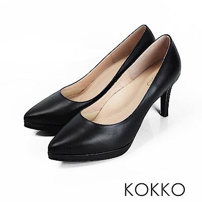 KOKKO - 美麗心計尖頭女王高跟鞋 - 經典黑