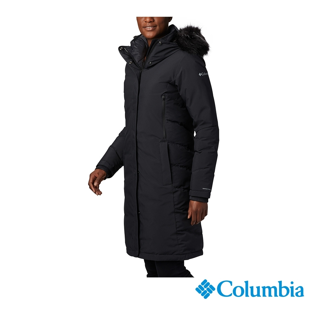 Columbia 哥倫比亞 女款- Omni-TECH 防水鋁點保暖羽絨大衣-黑色 UWR15070BK