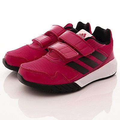 adidas童鞋 輕量雙絆帶運動鞋款 TH139紅黑(中小童段)