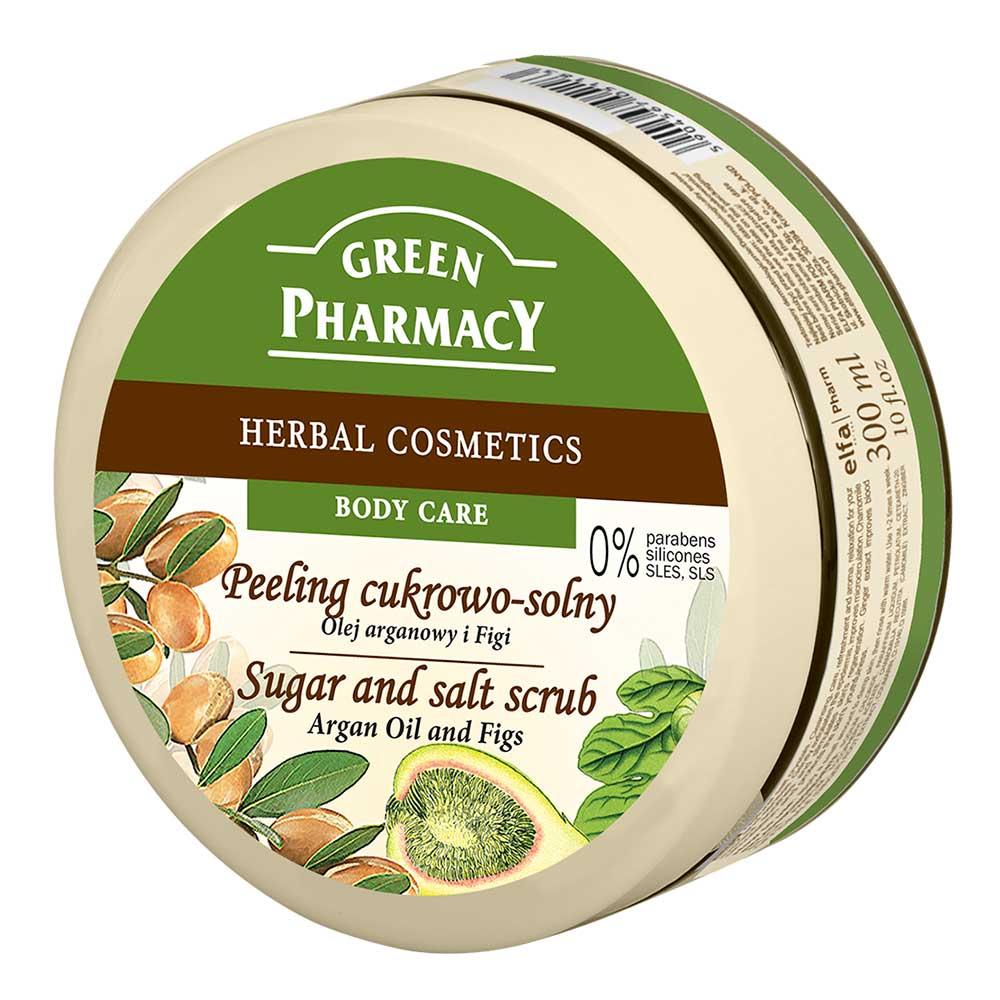 Green Pharmacy 草本肌曜 摩洛哥堅果油&無花果美體去角質霜 300ml
