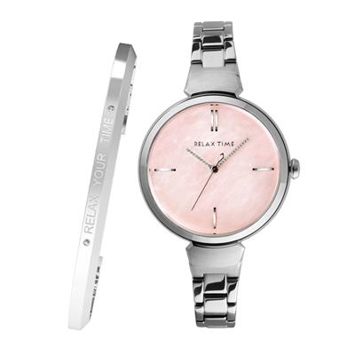 RELAX TIME 閃耀系列 RT-68-7 銀色x粉色貝殼/36mm