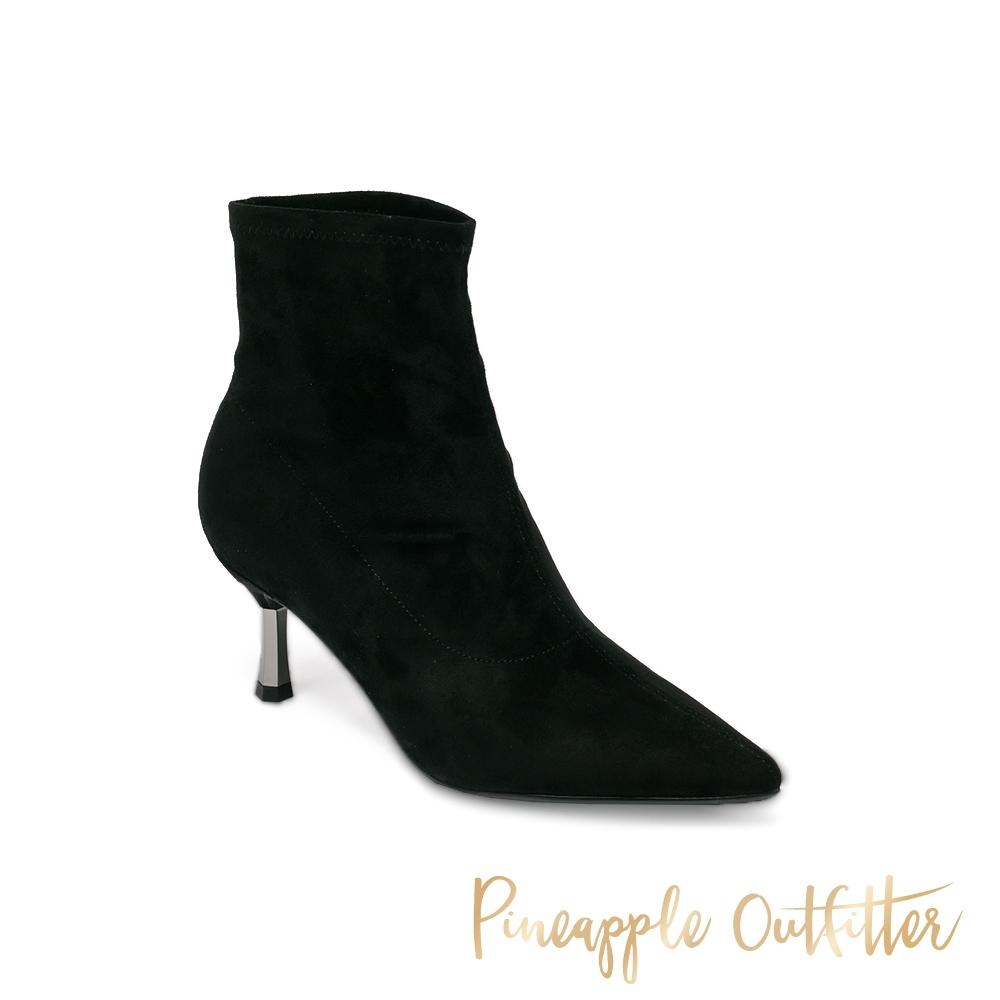 Pineapple Outfitter-BENICIA 氣質縫線造型細跟女短靴-黑色
