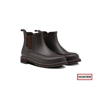 HUNTER - 男鞋-Refined馬克霧面踝靴-棕色