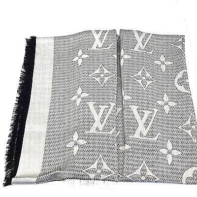LV M70659 BEYOND MONOGRAM 雙面披肩/圍巾 (珍珠灰)