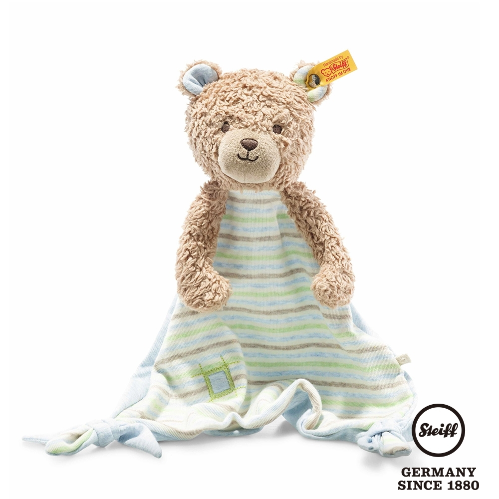 STEIFF德國金耳釦泰迪熊  GOTS Rudy Teddy Bear Comforter  可愛小熊 (嬰幼兒安撫巾)