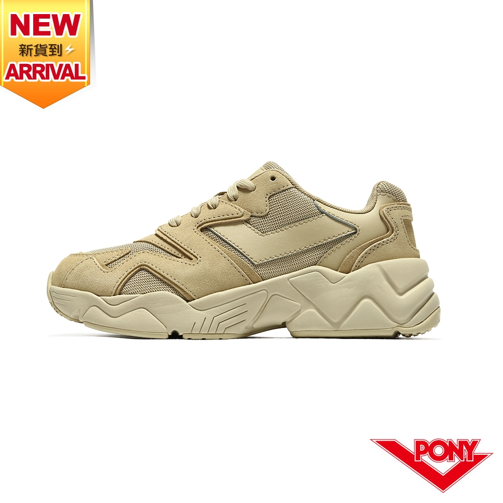 薔力推薦 買鞋送襪【PONY】MODERN 2 電光鞋 夢幻系慢跑鞋 男鞋-焦糖卡奇